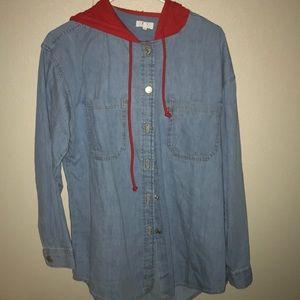 Levi's hooded jean jacket